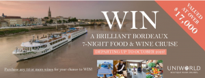 Wine Selectors – Win a Bordeaux 7-night Food & Wine River Cruise for 2