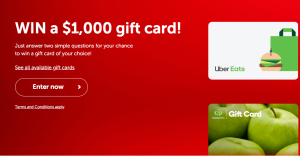 Budget Direct – Win 1 of 6 monthly gift cards valued at $1,000 each from Bunnings, Coles, Google Play, Ikea, JB Hi-Fi, Kmart, The Iconic, Uber Eats and Woolworths