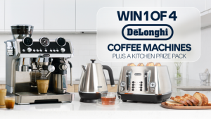 Channel Seven – Weekend Sunrise – Win 1 of 4 DeLonghi prize packs including a coffee machine PLUS a Kettle and Toaster