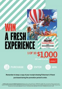 Fisherman's Friend – Win 1 of 10 Red Balloon gift cards valued at $1,000 each