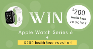 Health & Eco – Win an Apple Watch series 6 PLUS a $200 Health & Eco gift voucher