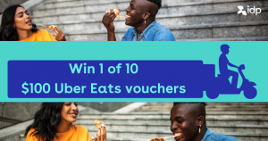 IDP – Win 1 of 10 Uber Eats vouchers valued at $100 each