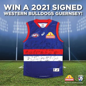 Mission Foods AU – Win 1 of 2 major prize packs including a Signed 2021 Western Bulldogs Guernsey, a hamper and more OR 1 of 5 minor prizes