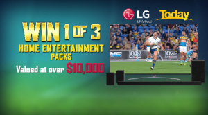 Nine Entertainment – LG Consumer – Win 1 of 3 prize packs including a 86 QNED 91 TV PLUS a Soundbar (each prize pack valued at $10,248)