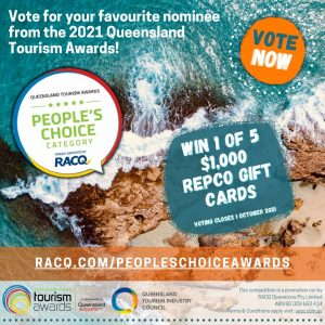 Queensland Tourism Industry Council – People's Choice Awards – Win 1 of 5 Repco gift cards valued at $1,000 each
