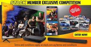 Stack – Win a Fast & Furious prize pack valued at $3,500