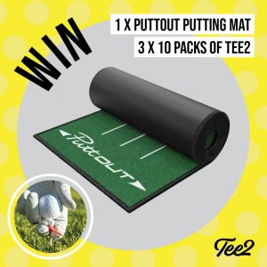 Tee2 – Win the ultimate PuttOut Mat PLUS 3 packs of Tee2 Aim Training Aids
