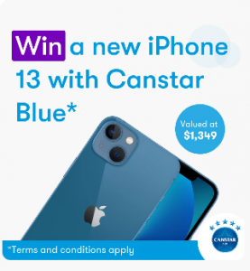 Canstar Blue – Win a brand new iPhone 128GB 13 in blue