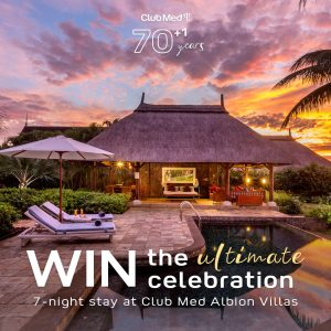 Club Med – Win 7 nights at Club Med Albion Villa in Mauritius for 6 people