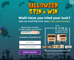 E-Living Furniture – Win a grand prize of a Kona Collection valued at $1,500 OR 1 of 10 minor prizes