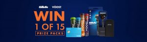 Gillette Voost – Win 1 of 15 At Home prize packs valued at $158 each