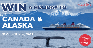 Inspiring Vacations – Win a 15-day Incredible Canada and Alaska for 2