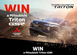 Network 10 – Win a Mitsubishi Triton GSR 4×4 Double Cab Pick Up car in Grey and includes a mat set and plates and Tubliner