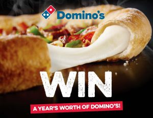 Network Ten – Win 1 of 5 prizes of a $1,000 Domino's Instagift each to redeem online