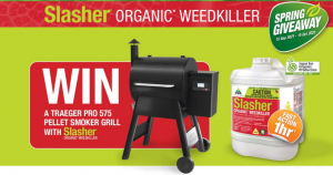 Organic Crop Protectants – Win 1 of 5 Traeger Pro 575 pellet smoker grills with Slasher