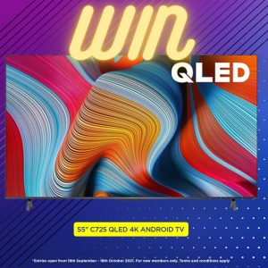 TCL Electronics – Win a brand new QLED TV