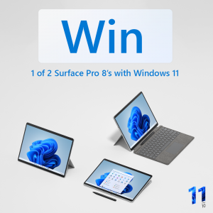 Windows – Win 1 of 2 Surface Pro 8's with Windows 11