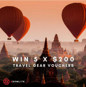 Zoomlite – Win 1 of 5 Zoomlite gift cards valued at $200 each